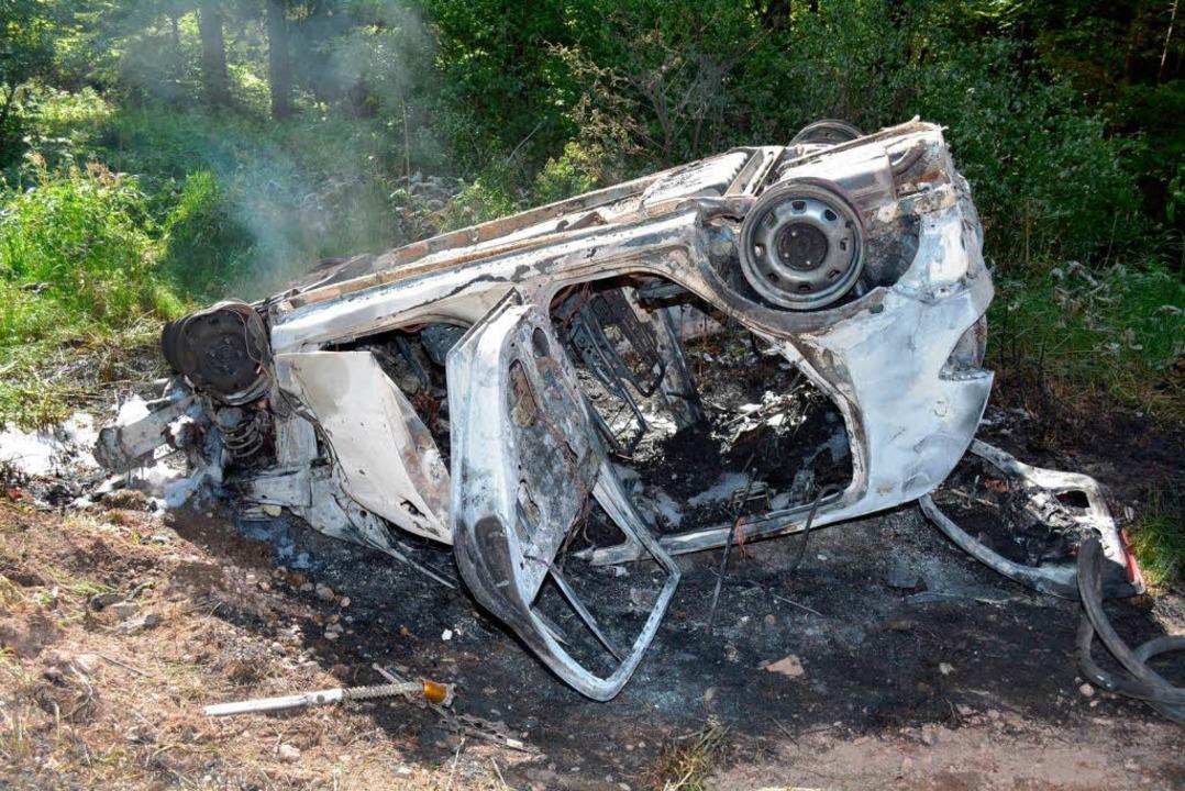 Zwei Tote, zwei Schwerverletzte: Das i...schweren Verkehrsunfalls auf der B317.