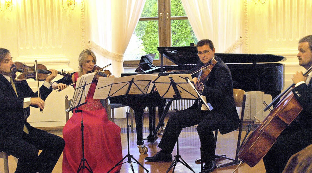 Im Rahmen des St. Blasier Musikfrühlin...ssischer Musik in Festsaal des Kollegs  | Foto: Karin Stöckl-Steinebrunner