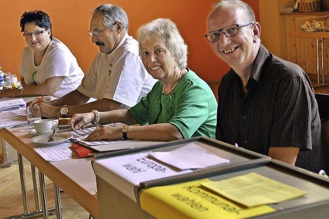 Warten auf die Wähler