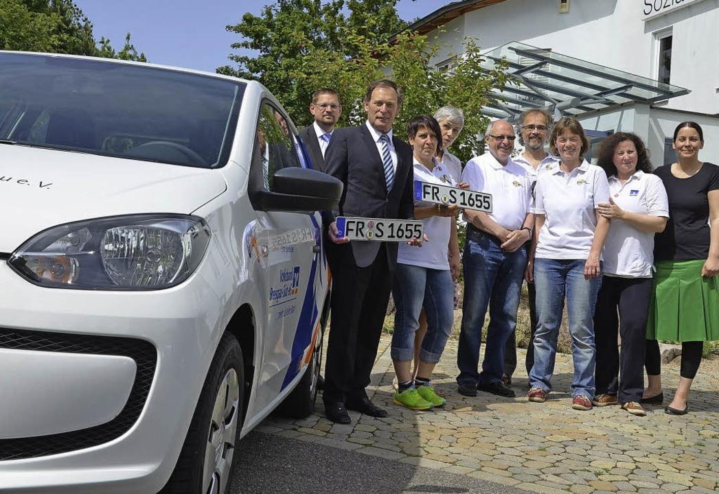 Die Volksbank Südlicher Breisgau hat e...Team am Tag der Mitgliederversammlung.  | Foto: susanne Müller