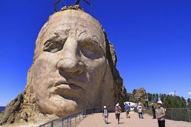 In Stein gemeißelt - das Indianer-Denkmal in South Dakota