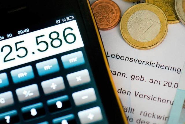 Im Schnitt 440 Euro weniger bei Lebensversicherungen