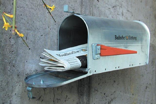 Zeitungszustellung teilweise verspätet