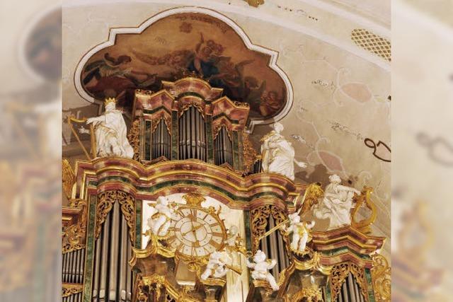 Hannfried Lucke spielt in der Barockkirche St. Peter