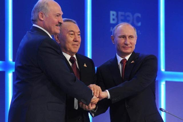 Putin schmiedet eurasische Wirtschaftsunion