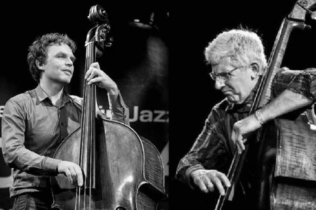 Sebastian Gramss und Mark Dresser spielen im BZ-Haus