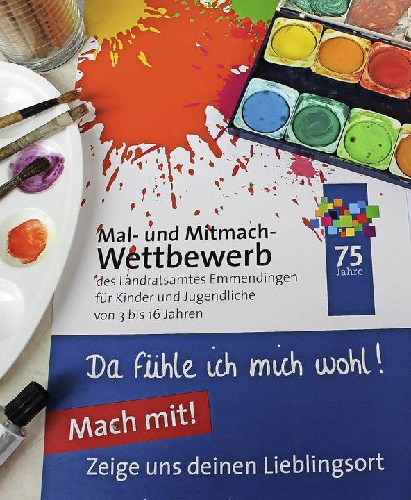 An die Farben, fertig, los<ppp> Das Landratsamt ruft  zum Wettbewerb</ppp> auf.     Foto: Landratsamt