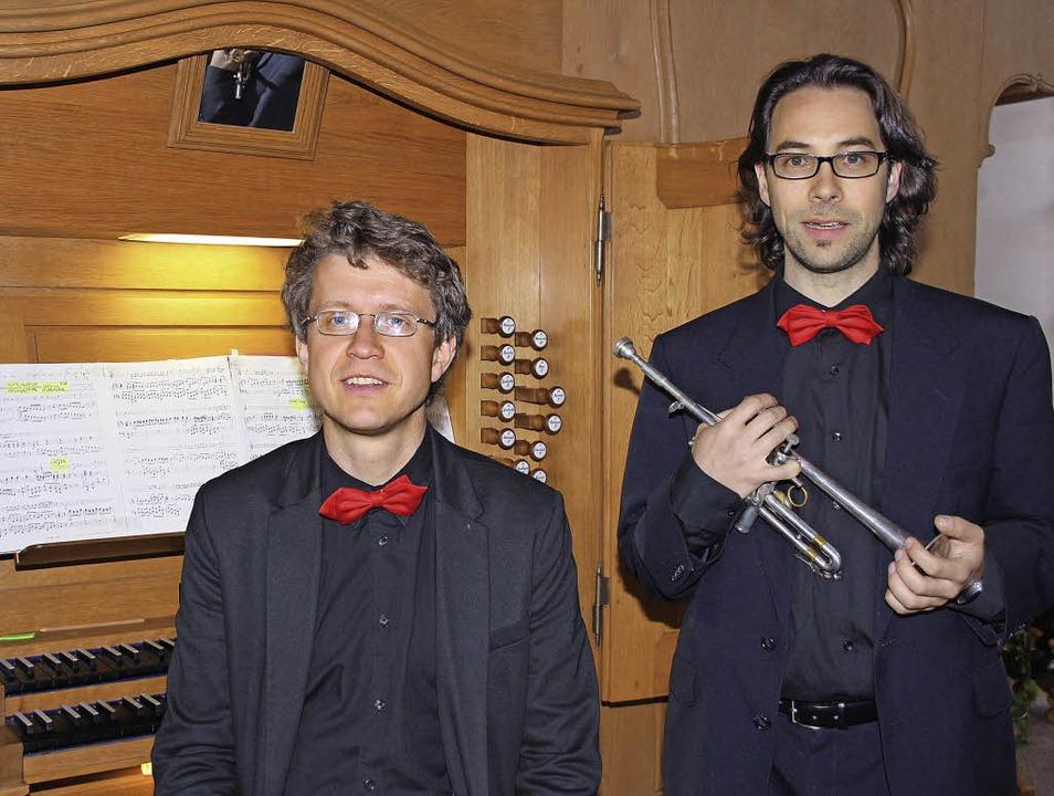 Zu Gast in Endingen: Frank Zimpel (lin...olles Konzert in der Kirche St. Peter.    Foto: Franz