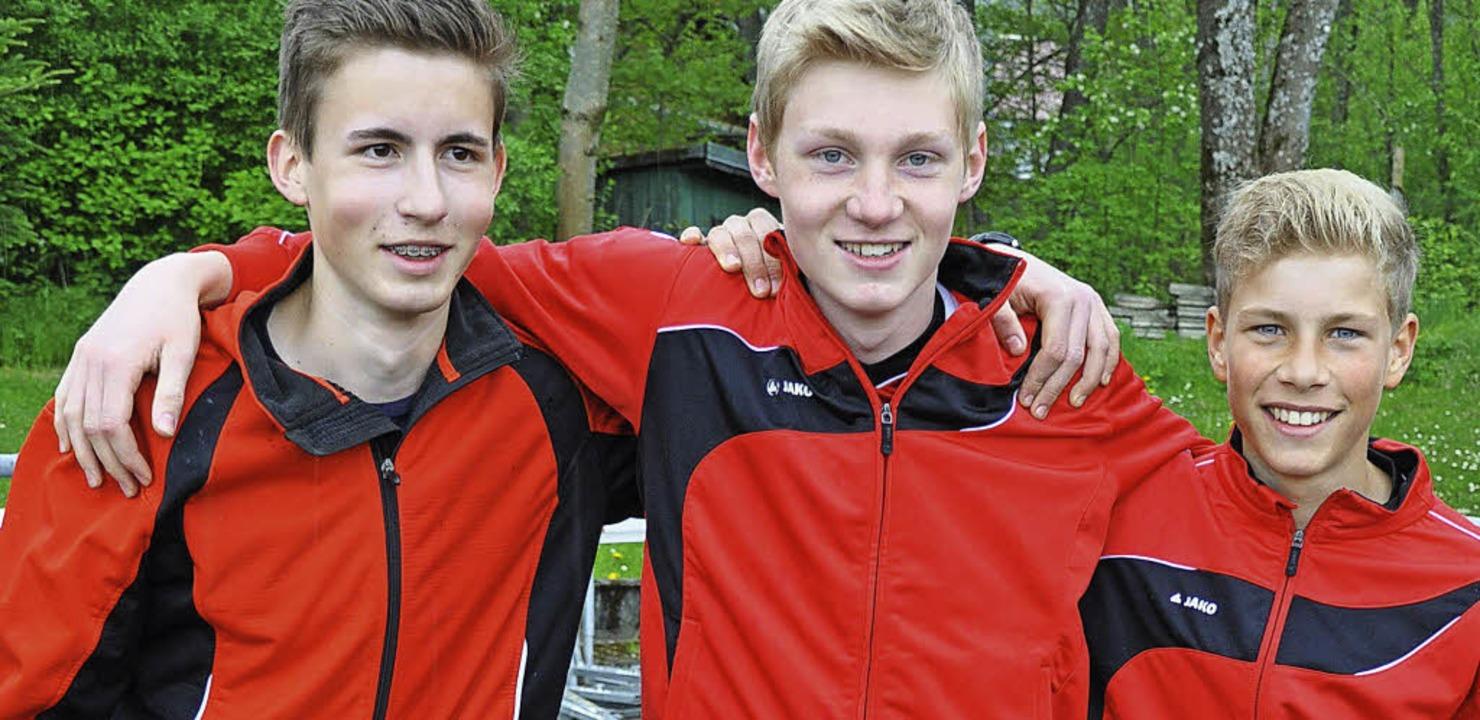 Auf dem Mannschaftsbild (von links):  ...Sören Thor (13) und Paul Kienzle (15)     Foto: Privat