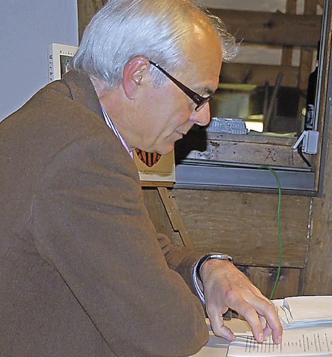 Dr. Andreas Mahler sorgte mit seinem a...ernstunde in der Schür am Stadtgraben.  | Foto: Jutta Binner-Schwarz