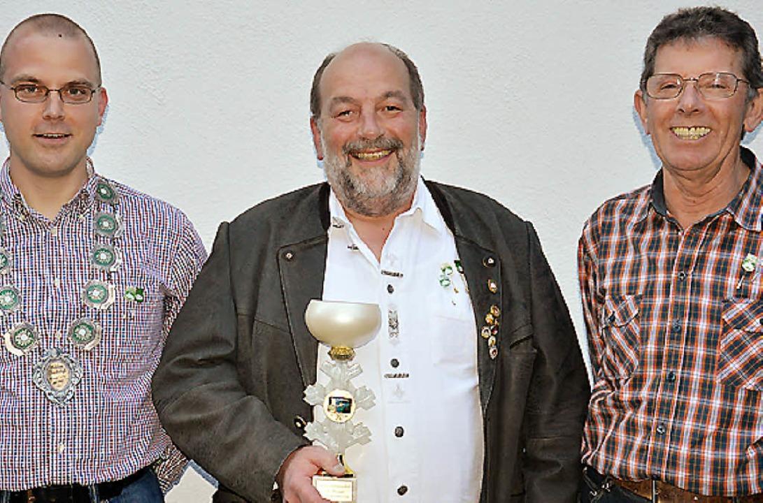 Die erfolgreichsten Schützen der Schüt...Kunz, Max Schneider und Peter Kröning   | Foto: georg diehl