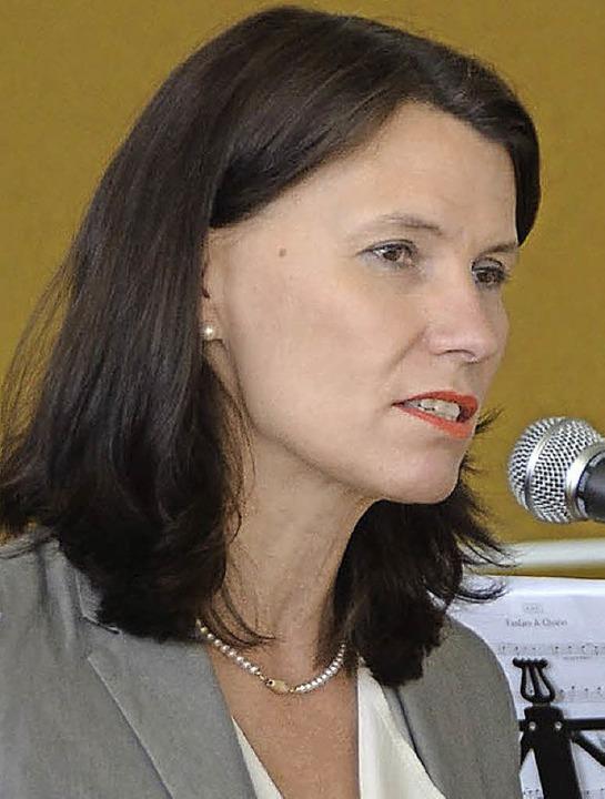 Die SPD-Bundestagsabgeordnete Rita Schwarzelühr-Sutter hielt die Eröffnungsrede.  | Foto: Martin Wunderle