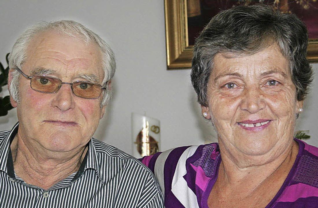Vor 50 Jahren traten Erika und Hilmar ...senweiler gemeinsam vor den Traualtar.  | Foto: Elisabeth Jakob-Kölblin
