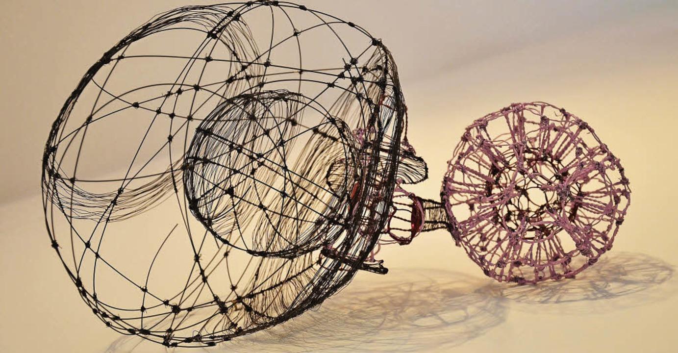 Filigrane Gebilde aus Luft und Draht von Bettina Lüdicke im kunsthaus.  | Foto: alexandra wehrle