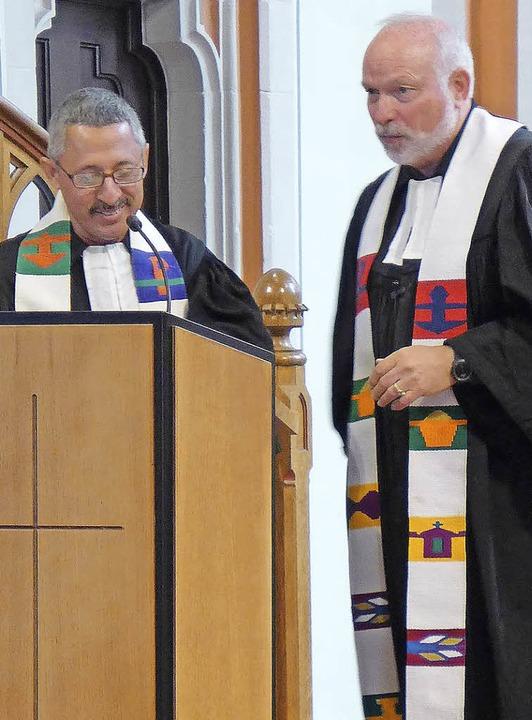 Am Sonntag hielt Pfarrer Josué Campos ...gt in  der evangelischen Stadtkirche.   | Foto: Gerhard Obert