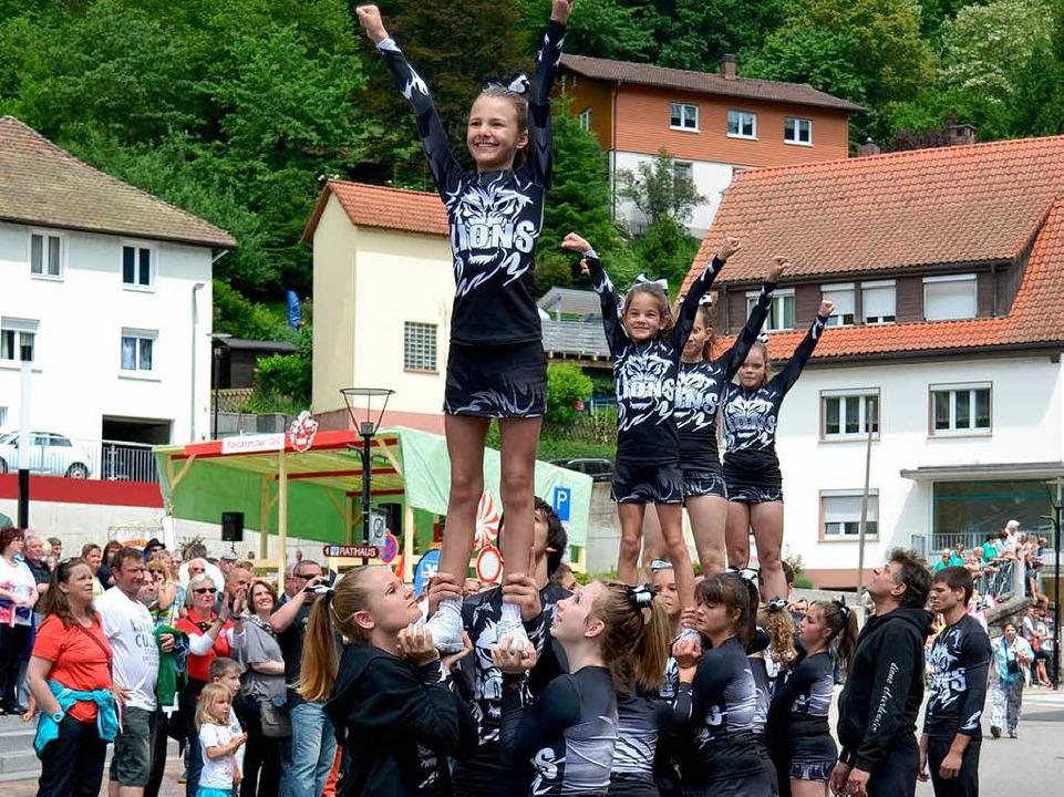 Cheerleader in Aktion