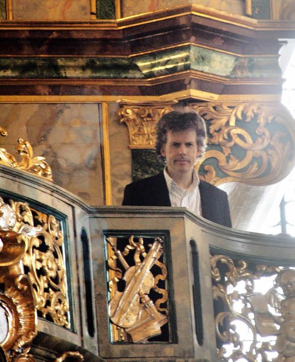 <Text>Der Salzburger Organist Hannfrie...h und Wolfgang Amadeus Mozart.</Text>   | Foto: Hans Jürgen Kugler
