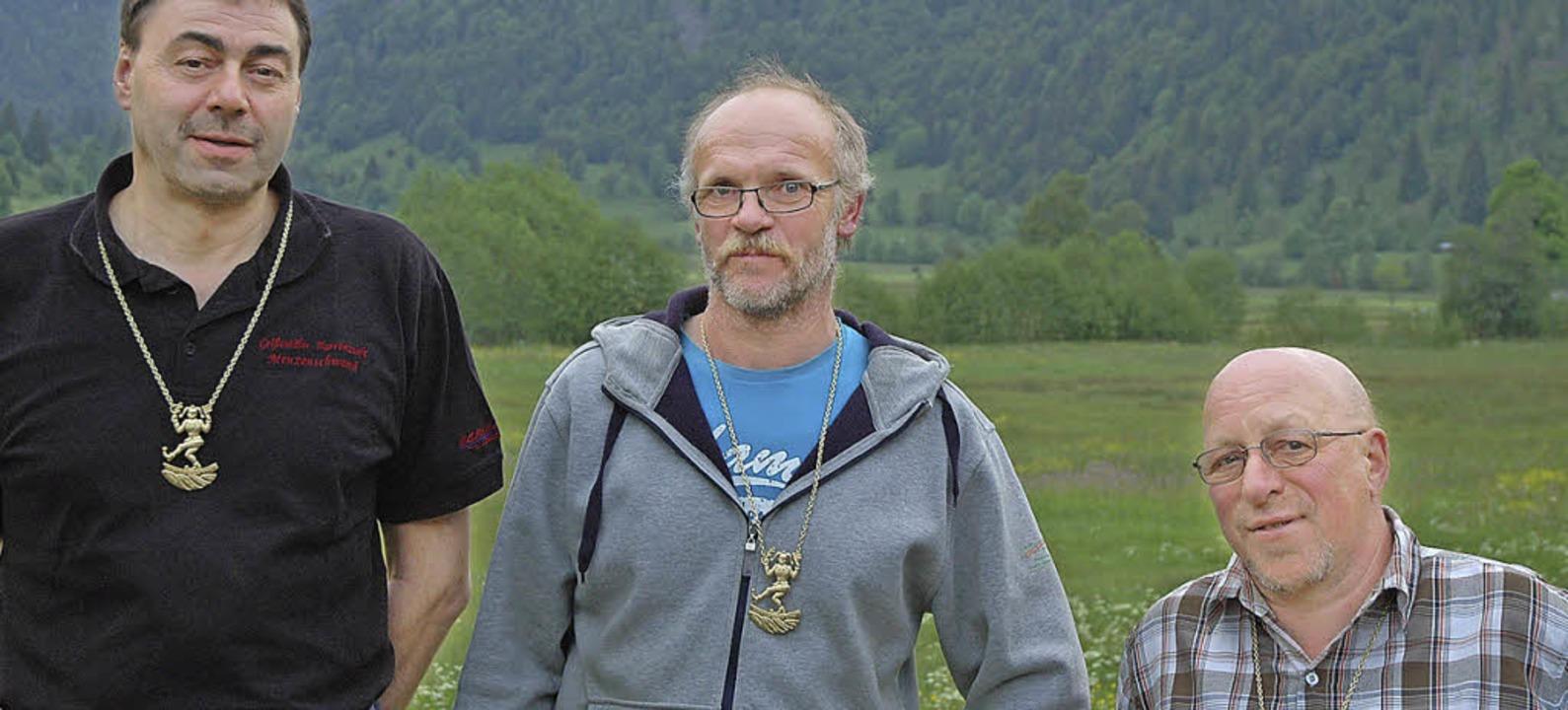 Mit dem goldenen Verbandsorden der Ver...n Schäuble (von links) ausgezeichnet.   | Foto: Christiane Sahli