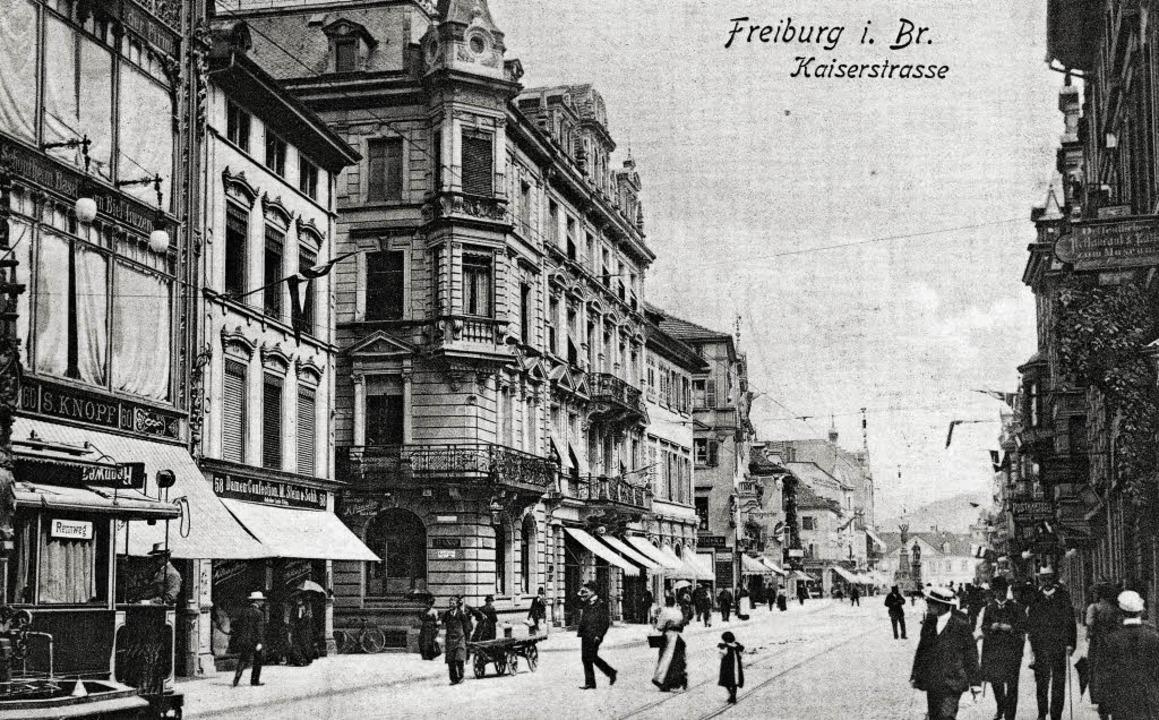 Das Kaufhaus Knopf in seinen Anfängen,...tkarte, die vor 1910 verschickt wurde.  | Foto: Sammlung Serger