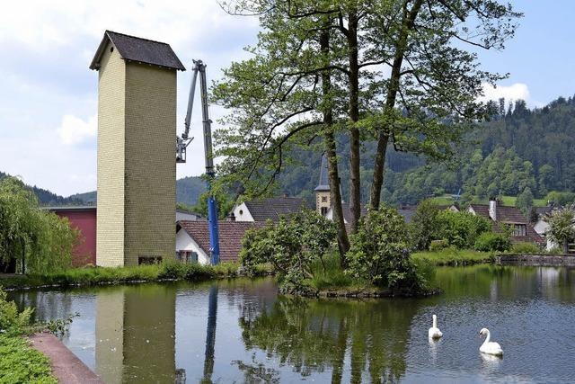Alter Schlauchturm wird abgerissen