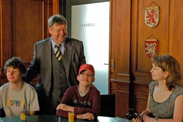 Sehbehinderte Schüler aus Prag in Waldkirch