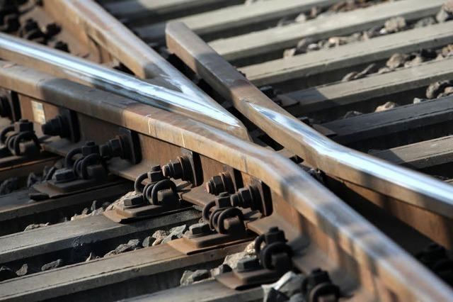 Rheintalstrecke vorübergehend total gesperrt