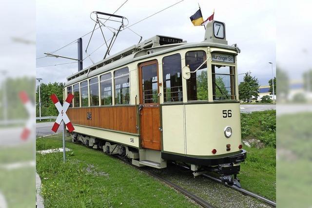 Freiburger Oldtimertrams fahren eine andere Route