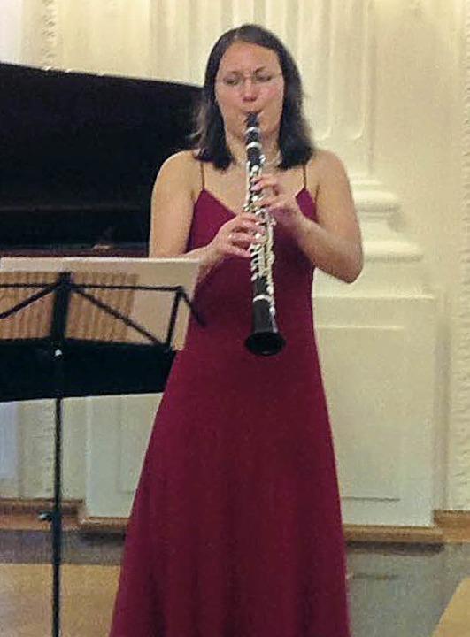 Die Klarinettistin Sayaka Schmuc gasti...Wupper-Trio bei den Klosterkonzerten.   | Foto: Privat