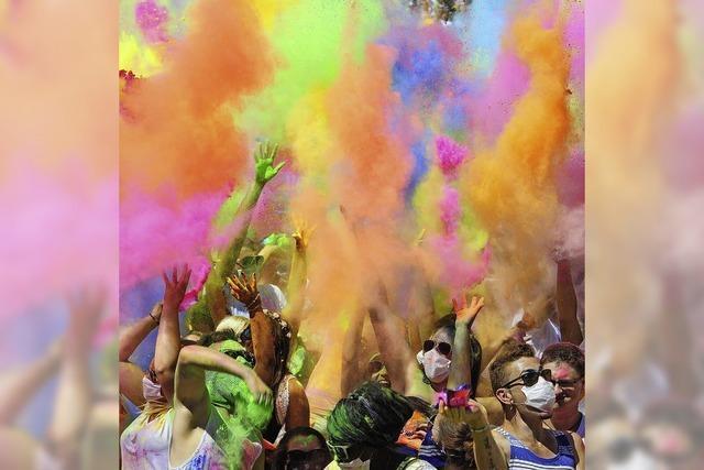 Farbfestival Holi setzt auf Musik