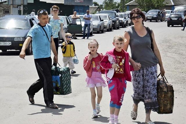 Moskau spricht von 33 000 Kriegsflüchtlingen - Kiew widerspricht