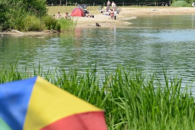 Opfinger See wird Badezone und Biotop