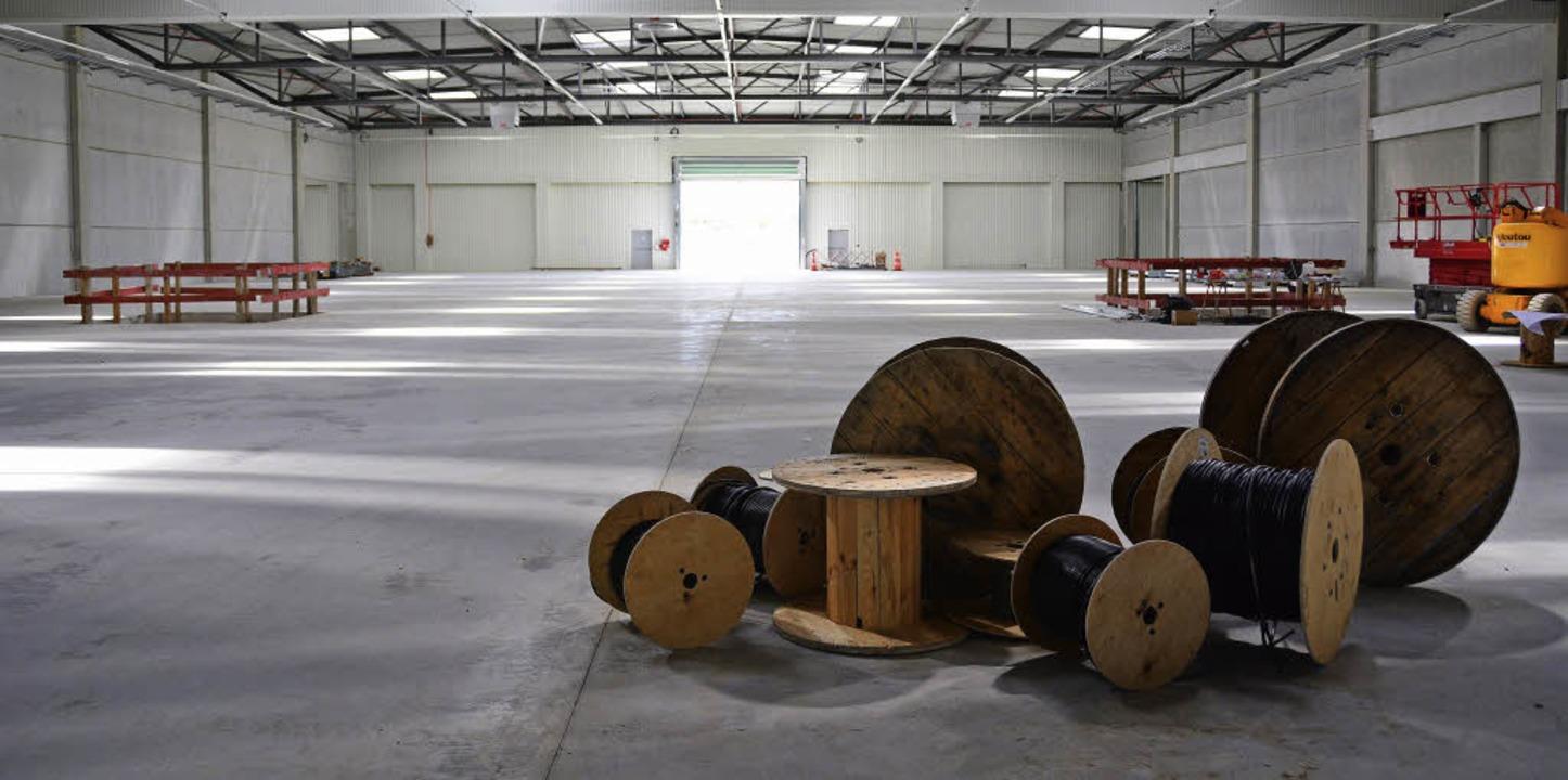 Rund 3000 Quadratmeter Fläche bietet jedes Modul im neuen Frachtterminal.   | Foto: Annette Mahro