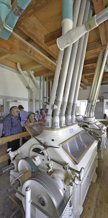Schließlich lief es doch noch, das Mah... der Jenne-Mühle im Ortsteil Tiengen.   | Foto: Michael Bamberger