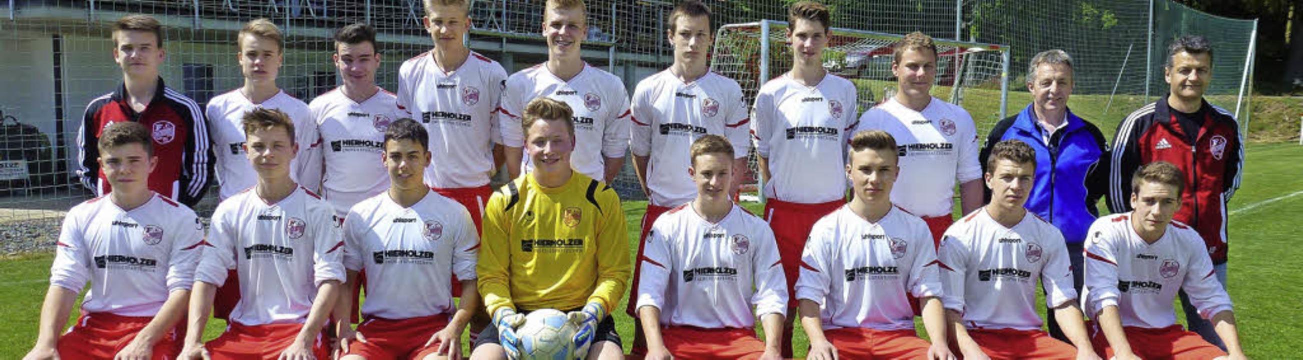 Die siegreichen B-Junioren der Spielge...nd von links). Es fehlt Marcel Gutjahr  | Foto: PRIVAT