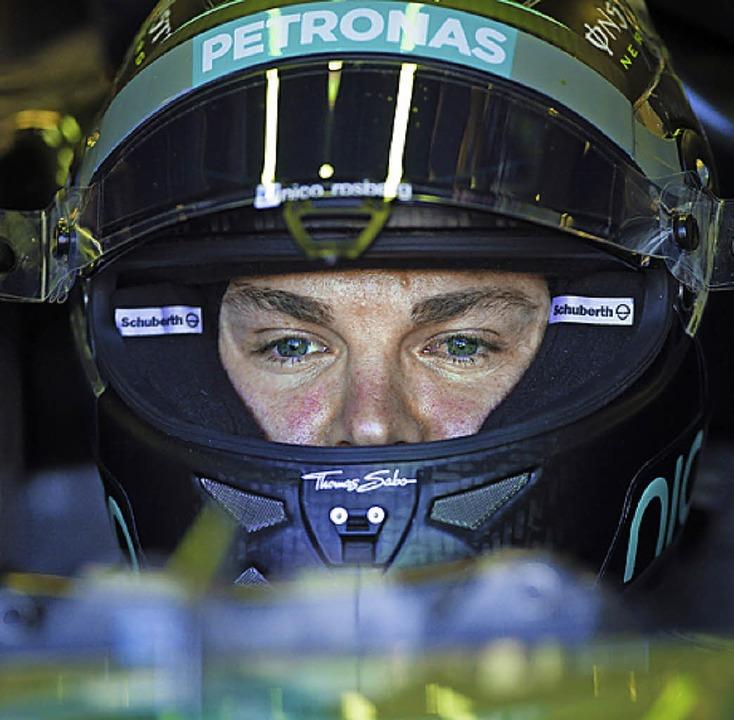 Nico Rosberg wird Zweiter.    Foto: dpa