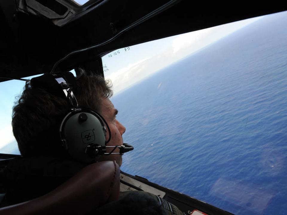 Vergebliche Suche hoch über dem Indischen Ozean.    Foto: afp