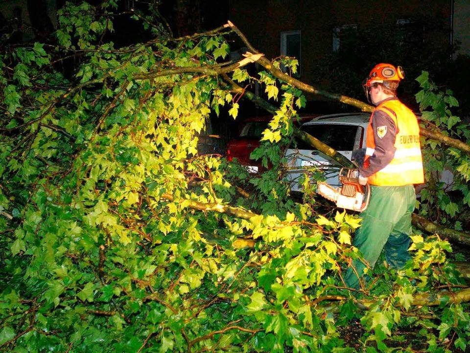 Bei schweren Unwettern sind in NRW mehrere Menschen getötet worden.    Foto: dpa