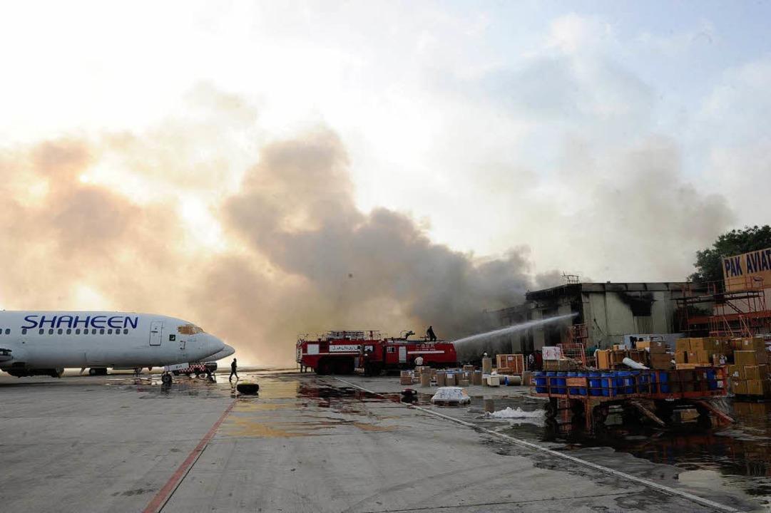 Attacke auf den Flughafen    Foto: dpa