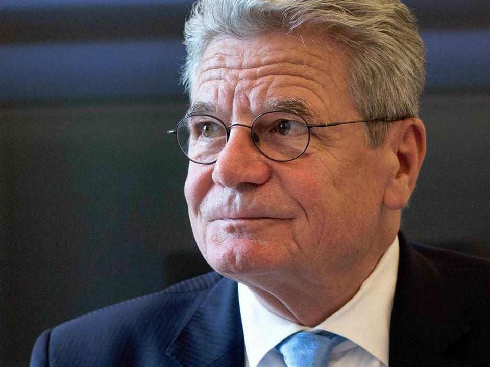 Der deutsche Bundespräsident Joachim Gauck    Foto: AFP