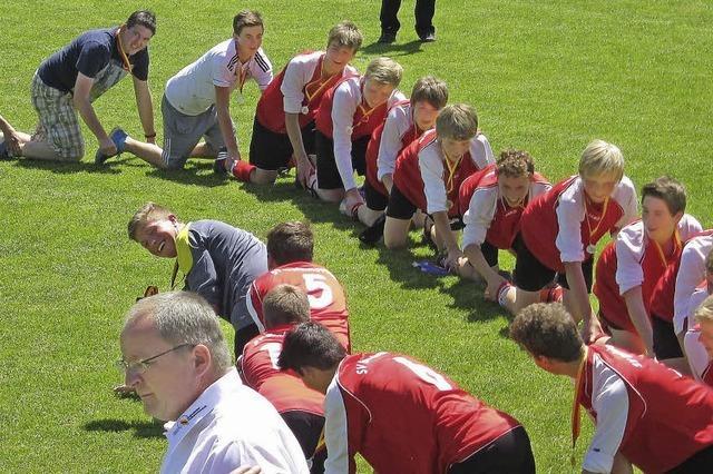 Rund 400 Fußballfans kamen ins Schlüchtseestadion