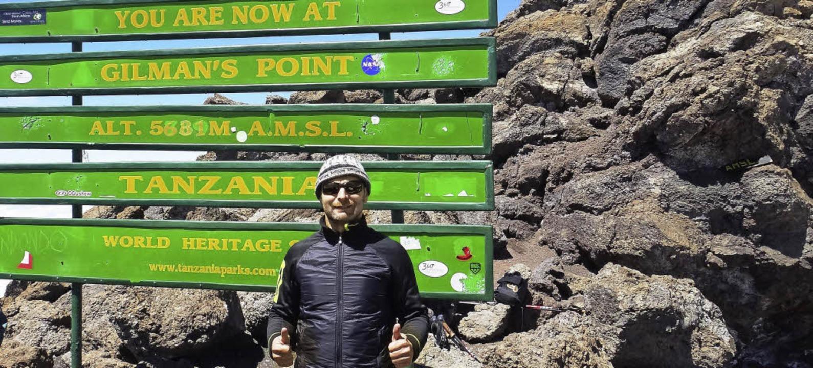 Frank Belle auf dem  Kilimandscharo, dem Dach Afrikas.   | Foto: Privat