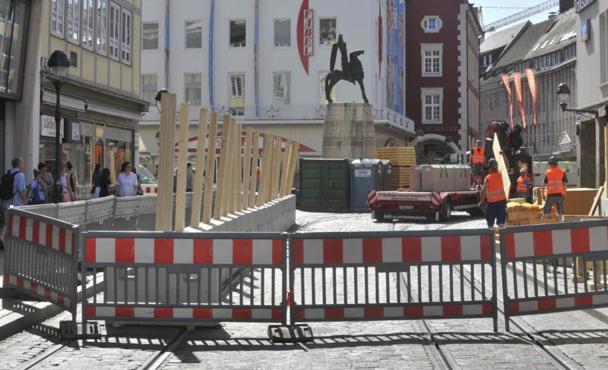 Die Freiburger Innenstadt gleicht einem Sperrgebiet  | Foto: Michael Bamberger