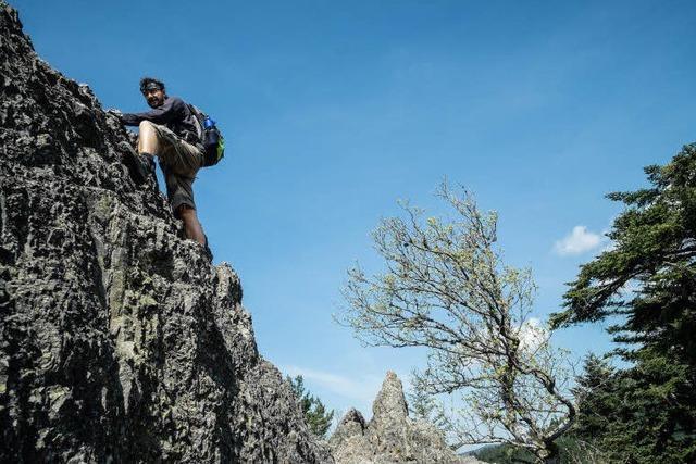 Felsiger Klettersteig: Wanderung auf dem Karlsruher Grat.