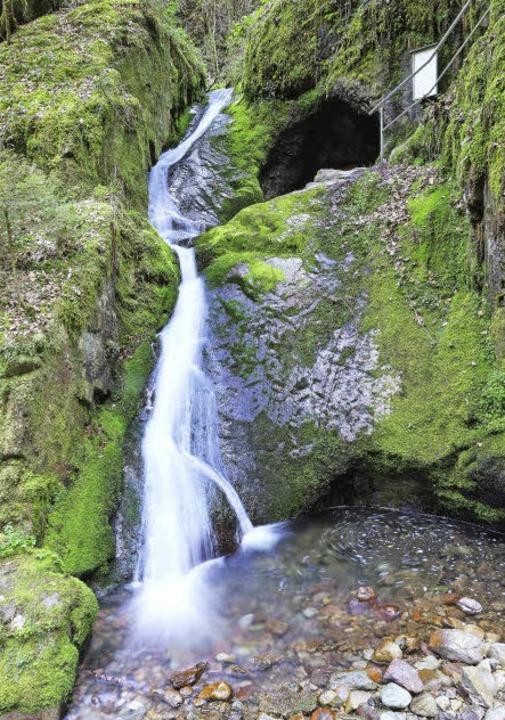 Beeindruckend: die Edelfrauengrab-Wasserfälle    Foto: Birgit-Cathrin Duval