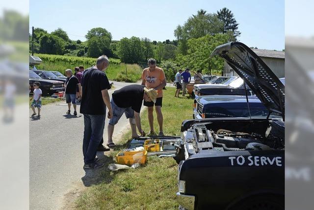 150 Opelfahrer feiern im Schambachtal