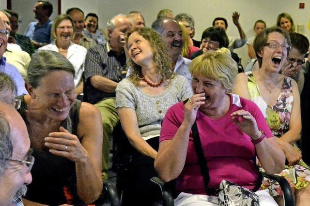 Trommelfeuer badischer Schimpfwörter mit Lachsalven beantwortet