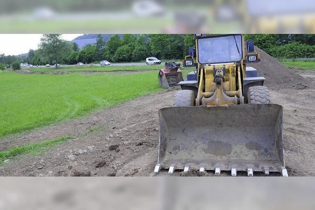 Arbeiten zum Schutz vor Hochwasser