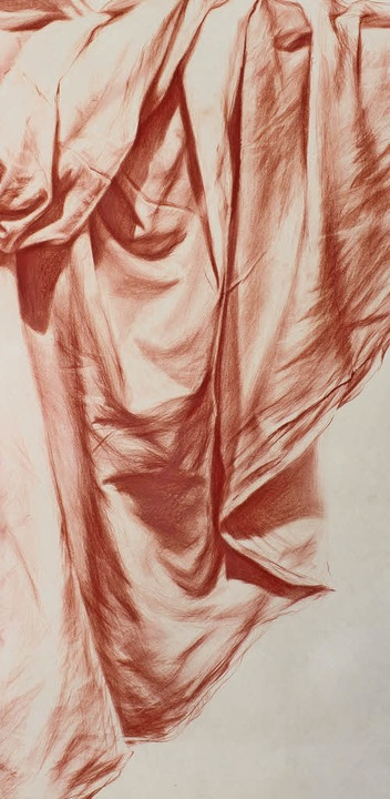 Von Leszek Budasz stammt die Farbstift...; (vor Pilatus); hier ein Ausschnitt.     Foto: Kunstforum