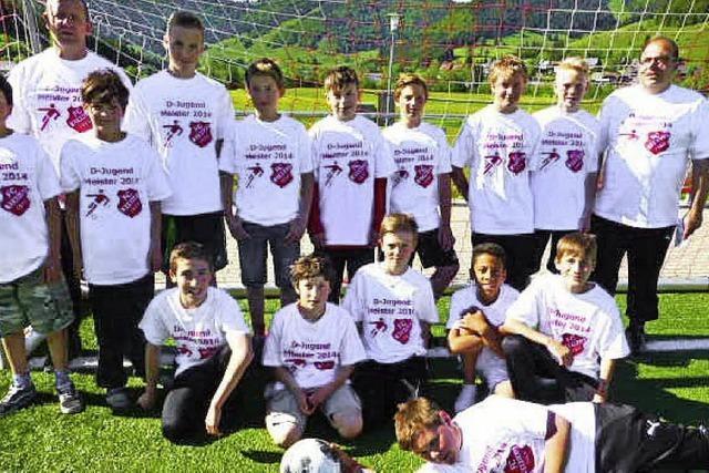Bernauer D-Junioren feiern ihren Meistertitel