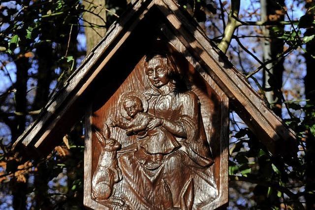 Maria, Jesus und Waldtiere